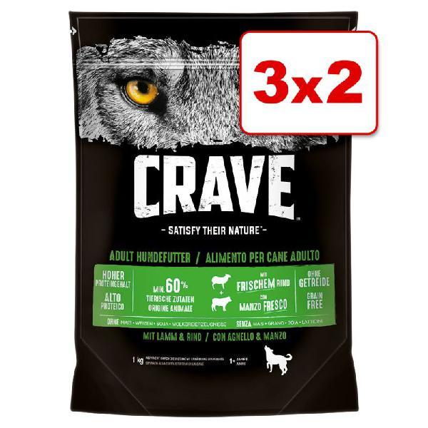 Crave adult pienso para perros en oferta: 2 + 1 ¡gratis!