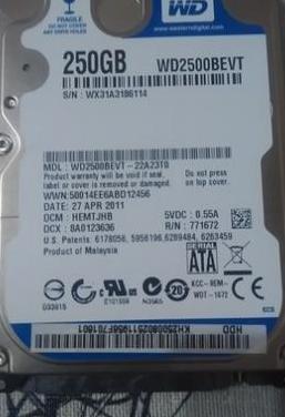 Disco duro western digital blue 250 gb
