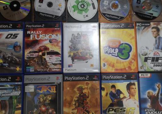 Juegos playstation 1 y 2, ps2, memory card, mando