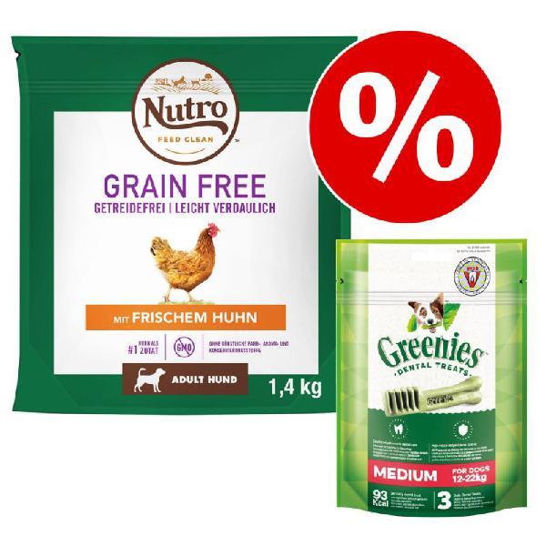 Nutro grain free para perros 1,4 kg + greenies grain free