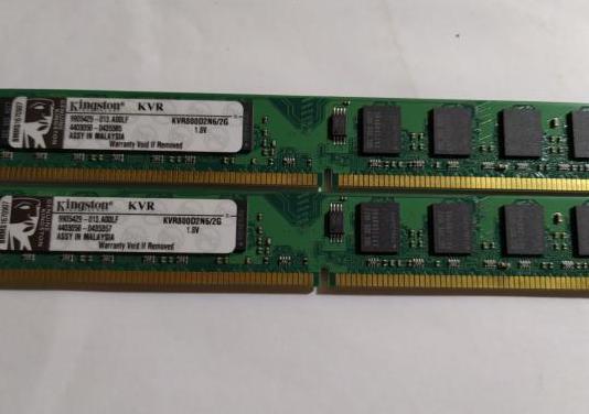 Pak de memoria de pc de 2gb ddr2 800 ghz