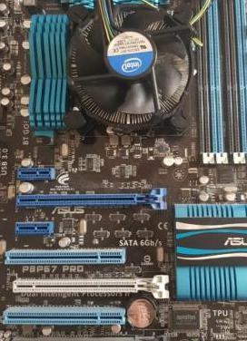 Procesador intel core i7 placa base asus p8p67 pro