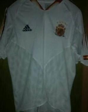 Segunda camiseta españa eurocopa 2004