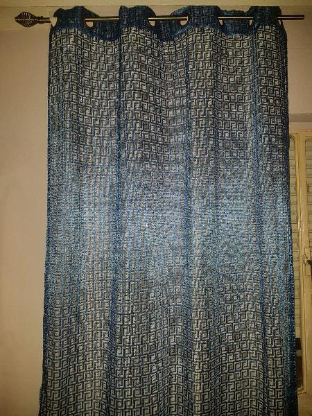 2 cortinas + 2 visillos