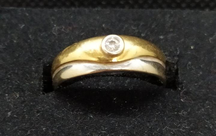 Anillo, anillo compromiso, oro blanco, oro amarillo y