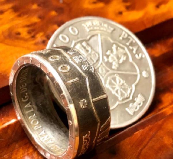 Anillo de plata de 100 pesetas de 1966
