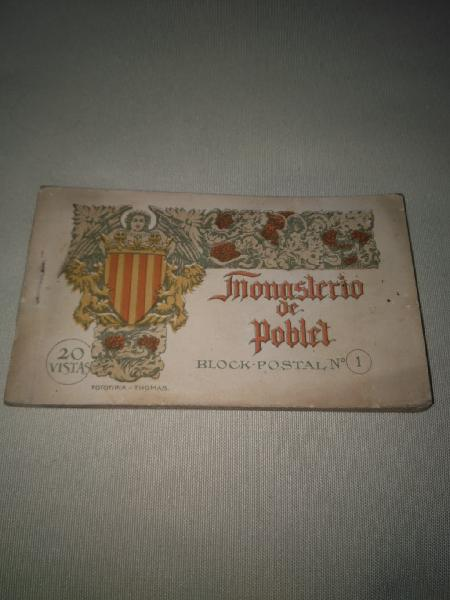 Block antiguas postales monasterio de poblet
