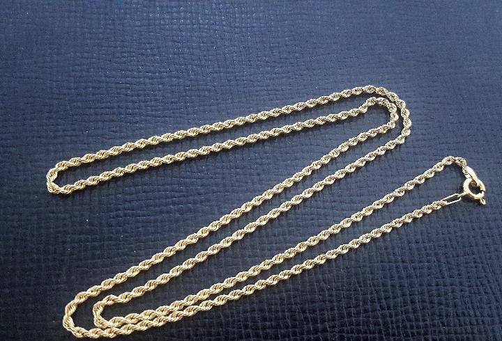 Cadena oro 18k tipo cordon - largo 60 cms - nueva