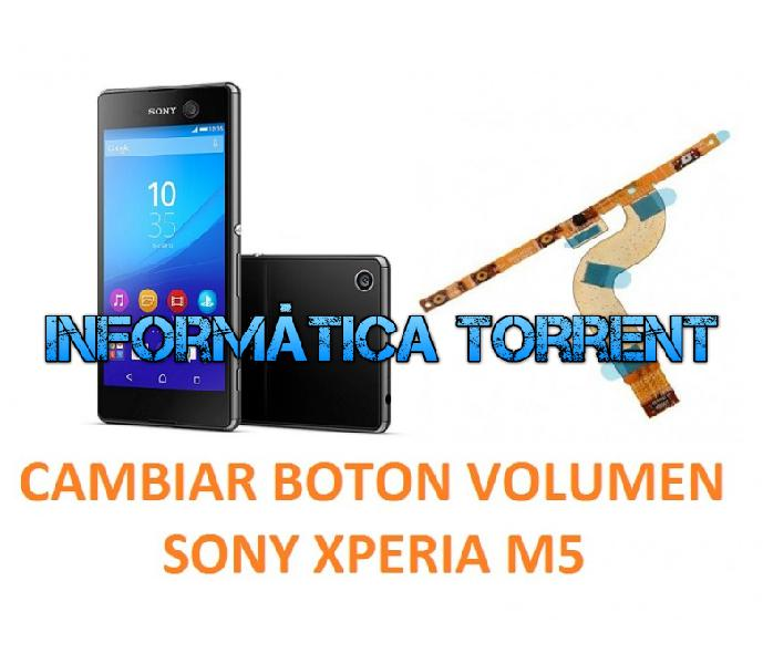 Cambiar flex botónes volumen sony xperia m5 e5603,
