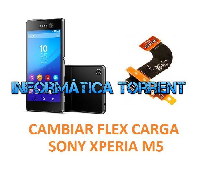 Cambiar flex carga sony xperia m5 e5603, e5606