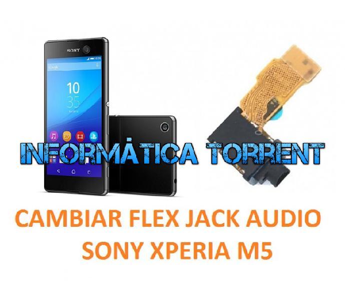 Cambiar flex jack audio sony xperia m5 e5603, e560