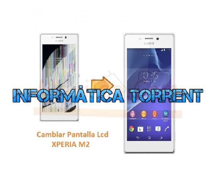 Cambiar pantalla lcd display para sony xperia m2 s