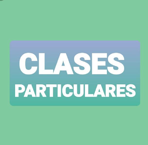 Clases particulares / apoyo
