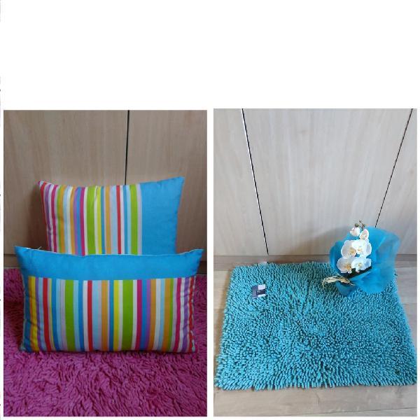 Cojines y alfombra