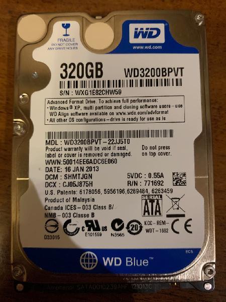Disco duro 2.5 320gb
