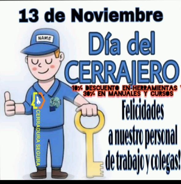 Día del cerrajero 13.11.2020
