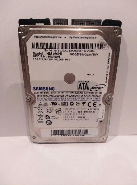 Disco duro 160 gb, dhh laptop, portátil