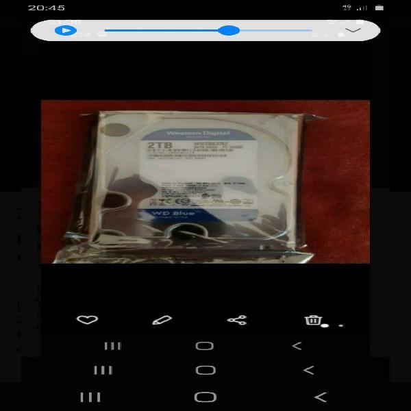 Disco duro wd blue 2tb nuevo