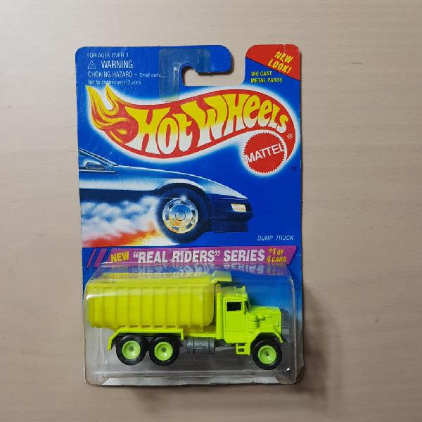 Hot wheels dump truck real riders series