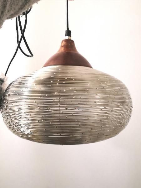 Lámpara techo metal tipo globo