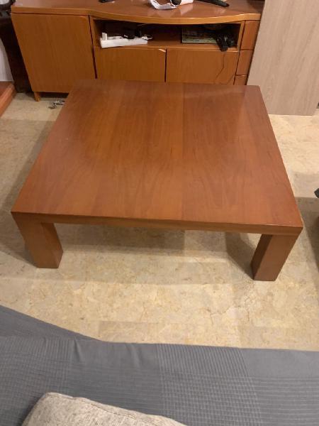 Mesa centro madera maciza (para salón grande )