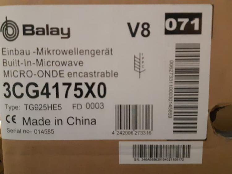 Microondas integrable balay