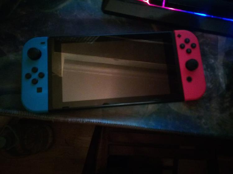 Nintendo switch con mando y mario kart deluxe 8