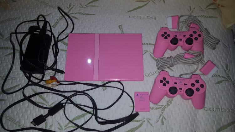 Ps2 slim rosa+2 mandos+extra