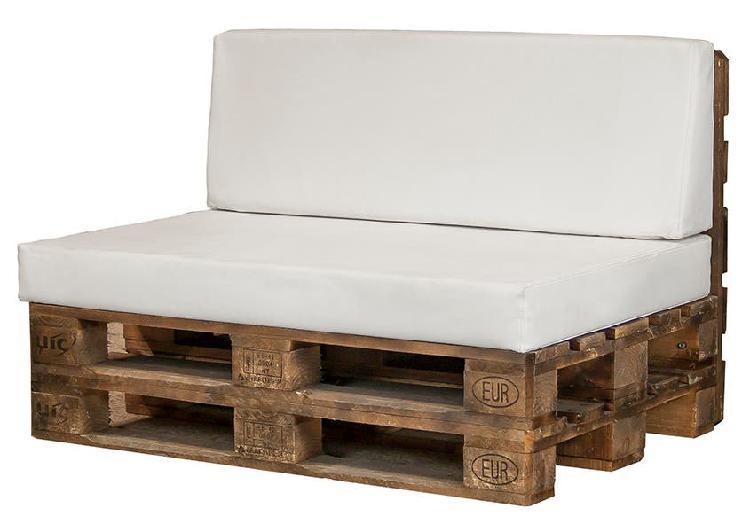 Sofá palet blanco