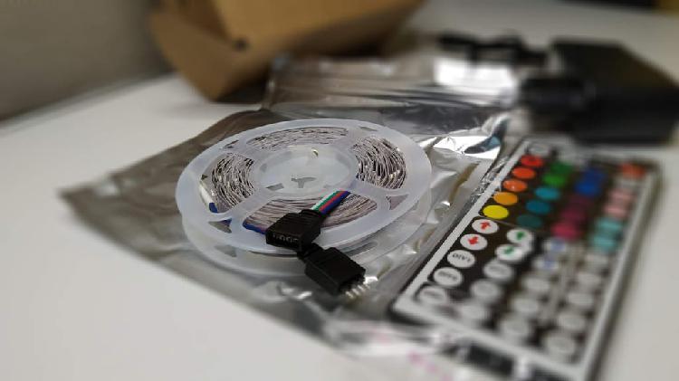 Tira de luz led rgb 5050 control remoto 12v