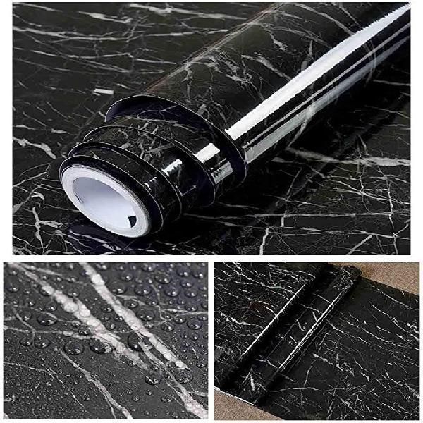 Vinilo autoadhesivo 40x300cm mármol negro