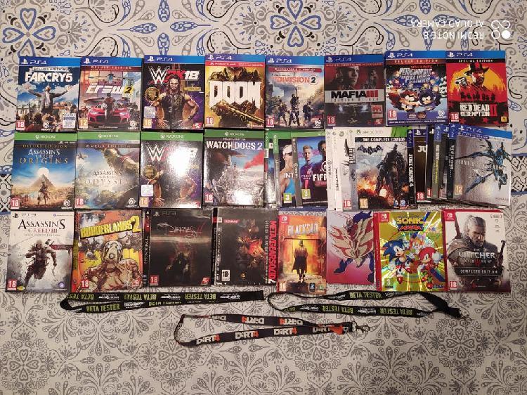 Extras de videojuegos ( cajas - carátulas ..)