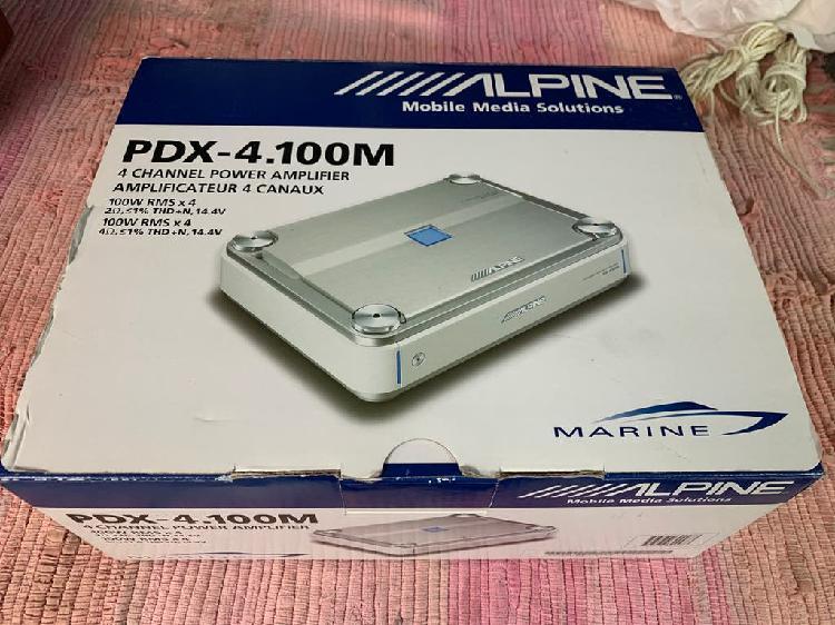 Amplificador alpine pdx - 4.100 marine