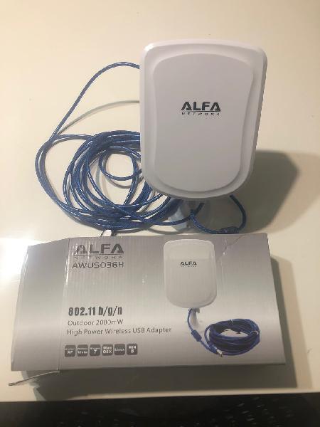 Antena alfa alta potencia wifi