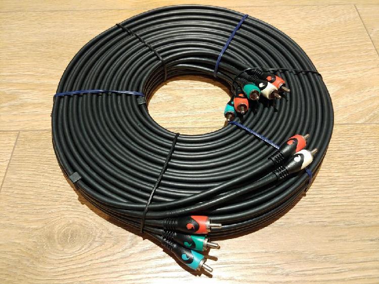 Cable video componentes y audio 10 m