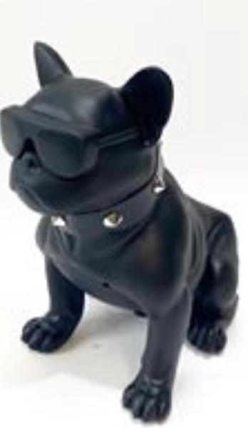 Perro altavoz negro