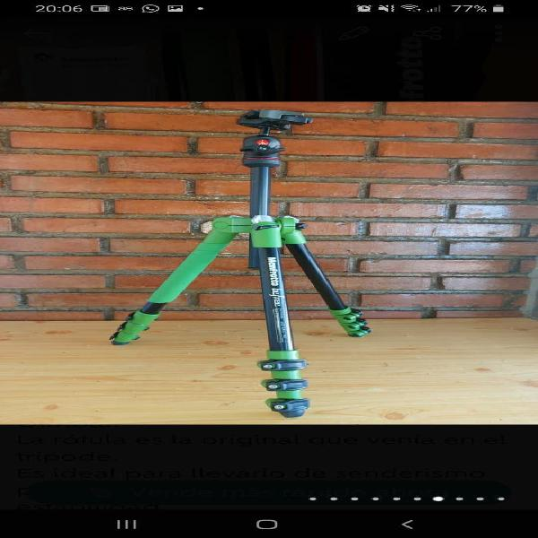 Vendo cámara nikon 7100 más trípode manfrotto