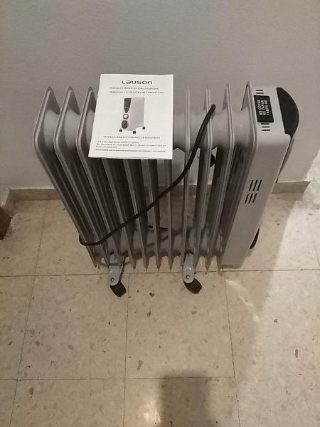 Estufa radiador eléctrico lauson