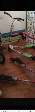 2 patinetes y 1 bicicleta