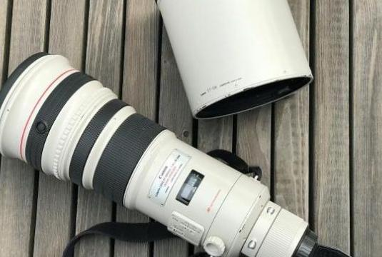 Canon ef 500 mm f / 4l is usm, extensor 1.4x, filt
