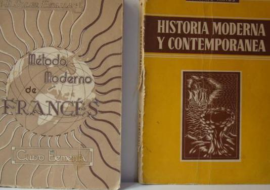 Libros ortografía, historia, frances.