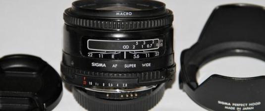 Sigma 24mm. f2.8 super-wide ii macro mc para nikon