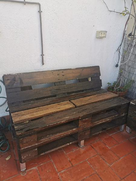 Chill out madera palets + cojines impermeables