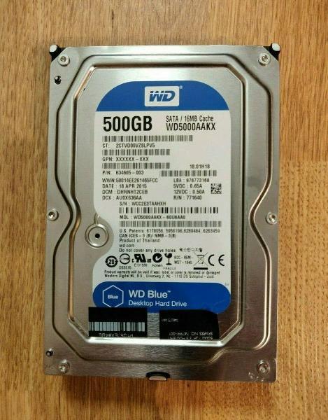 """Disco duro 500gb 3,5"""" hdd sata 6.0gb/s 7200rpm wd"""