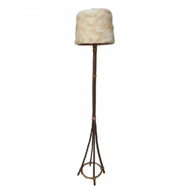 Lámpara de pie lana pelo largo con instal... r7631