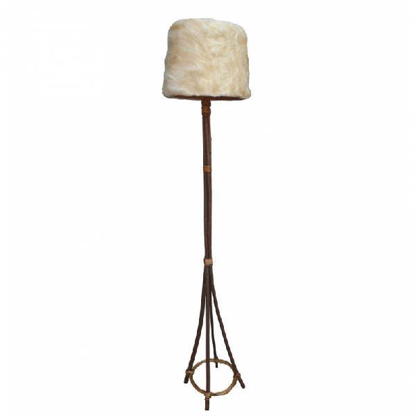 Lámpara de pie lana pelo largo con instal... r7681