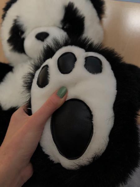 Peluche oso panda mediano