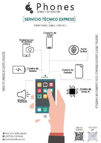 Reparación de iphone express (tienda)