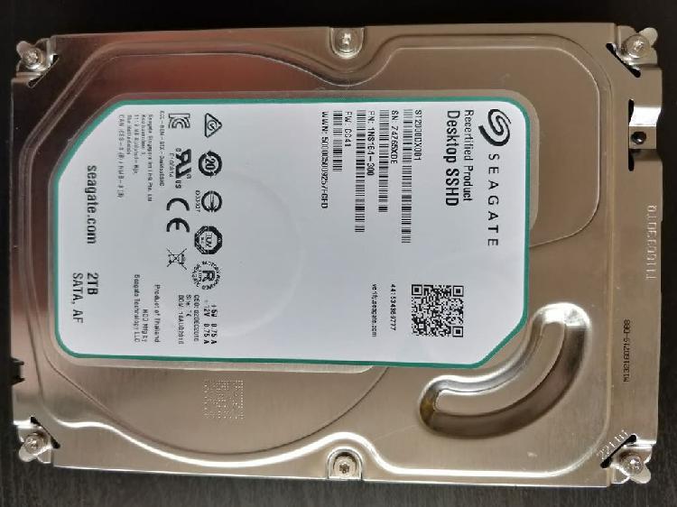 Sshd disco duro híbrido (sólido) 2tb 3.5