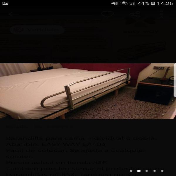 Barandilla y protector cama